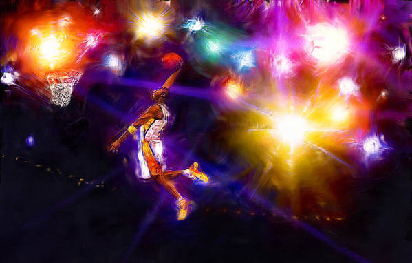 Kobe Bryant Poster featuring the digital art A Star Is Born by Alan Greene