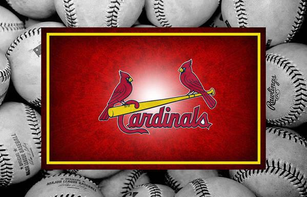 St Louis Cardinals Poster featuring the photograph St Louis Cardinals by Joe Hamilton