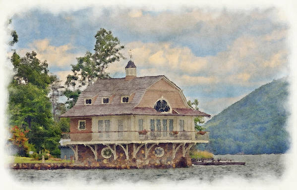 Boathouse Poster featuring the photograph Boathouse by Susan Leggett