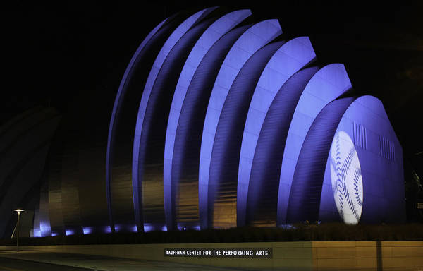 Mlb All-star Game Poster featuring the photograph Kauffman Center Of Performing Arts During All-star Week by Raye Pond