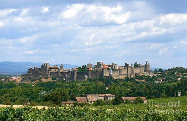 Carcassonne Poster featuring the photograph La Cite De Carcassonne by France Art