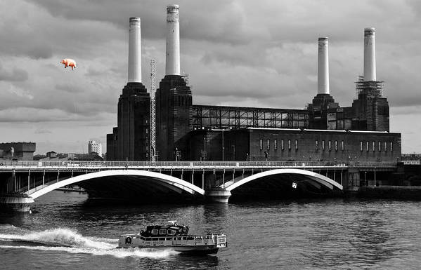 Pink Floyd Poster featuring the photograph Pink Floyd's Pig At Battersea by Dawn OConnor