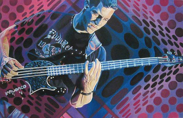 Stefan Lessard Poster featuring the drawing Stefan Lessard Pop-op Series by Joshua Morton