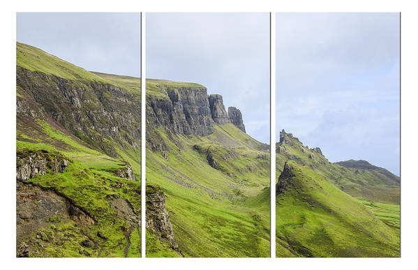 The Quiraing Poster featuring the photograph The Quiraing Triptych by Chris Thaxter