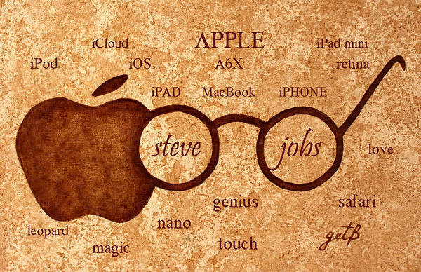Steve Jobs Poster featuring the painting Tribute To Steve Jobs 2 Digital Art by Georgeta Blanaru