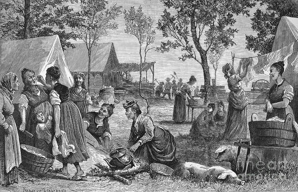 1874 Poster featuring the photograph Emigrants: Arkansas, 1874 by Granger