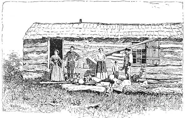 1854 Poster featuring the photograph Kansas: Early House, 1854 by Granger