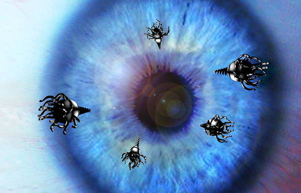 Eye Poster featuring the photograph Nanorobots by Take 27 Ltd