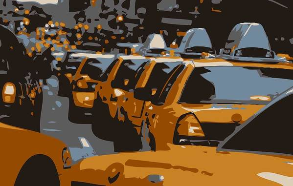 Taxi Poster featuring the photograph Nyc Traffic Color 6 by Scott Kelley