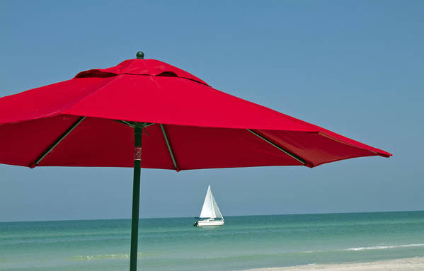 Sailboat Poster featuring the photograph Perfect Beach Day by Elvira Butler