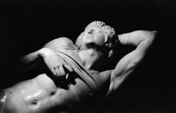 The Dying Slave Poster featuring the photograph The Dying Slave by Michelangelo Buonarroti
