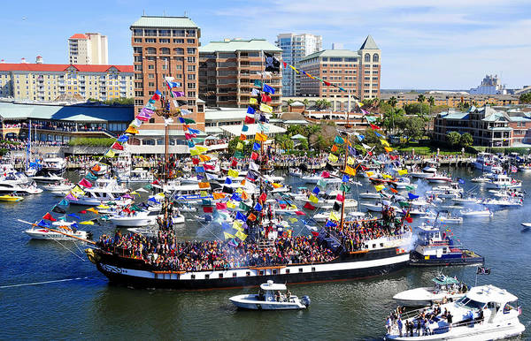 Fine Art Photography Poster featuring the photograph Gasparilla And Harbor Island Florida by David Lee Thompson