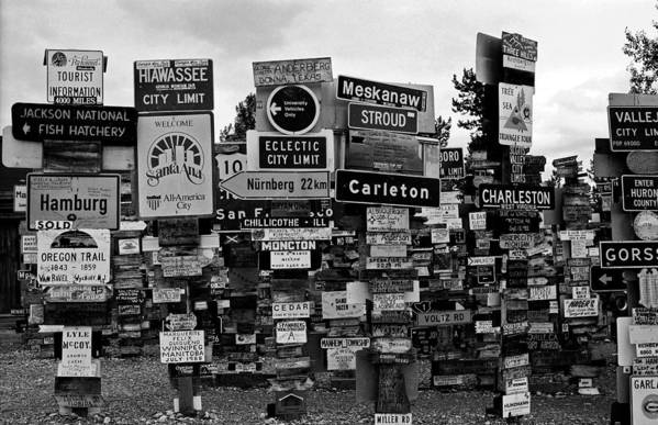 North America Poster featuring the photograph Sign Post Forest by Juergen Weiss