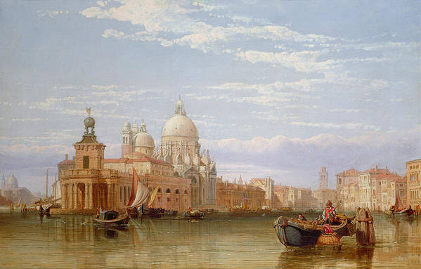 The Poster featuring the painting The Grand Canal - Venice by George Clarkson Stanfield
