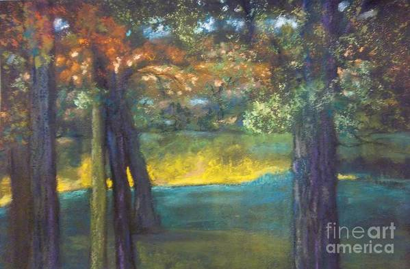 Pastel Poster featuring the painting Blazing Autumn Light by Sandra McClure