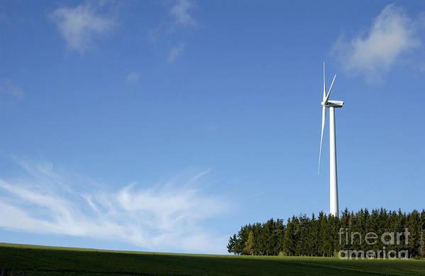 Sky Poster featuring the photograph Wind Turbine by Bernard Jaubert