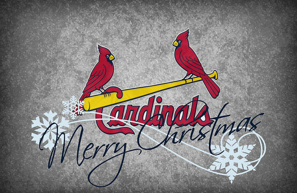 Cardinals Poster featuring the photograph St Louis Cardinals by Joe Hamilton
