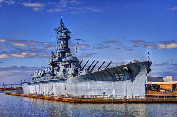 Ww Ii Poster featuring the photograph Bb-60 Uss Alabama by Barry Jones