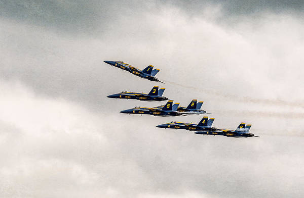Bethpage Poster featuring the photograph Blue Angels by Eduard Moldoveanu