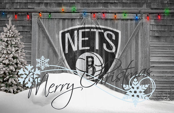 Nets Poster featuring the photograph Brooklyn Nets by Joe Hamilton