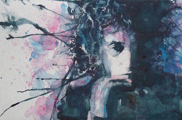 Bob Dylan Poster featuring the painting Don't Think Twice It's Alright by Paul Lovering
