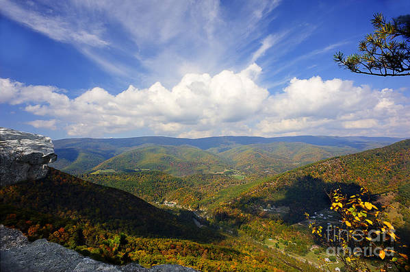 North Fork Mountain Poster featuring the photograph Fall Scene From North Fork Mountain by Dan Friend