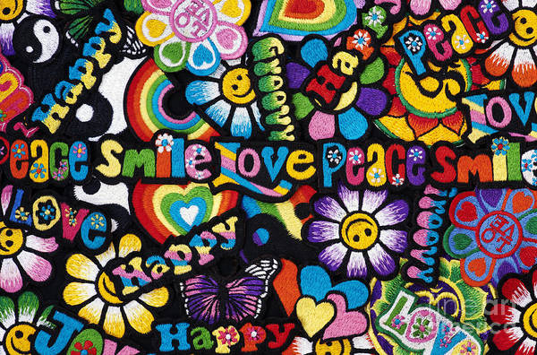 Embroidery Poster featuring the photograph Flower Power by Tim Gainey