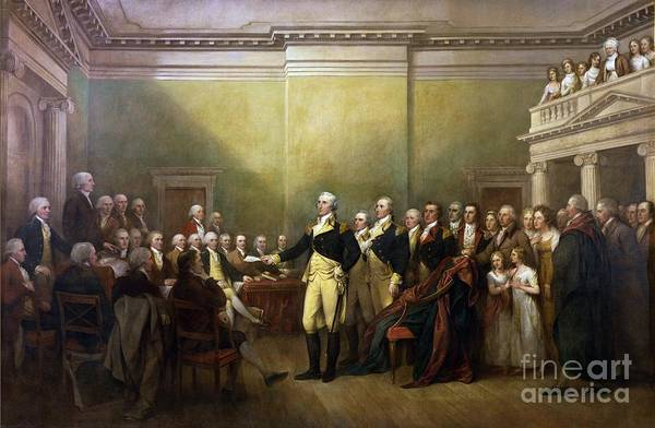 Pd Poster featuring the painting General Washington Resigning His Commission by Pg Reproductions