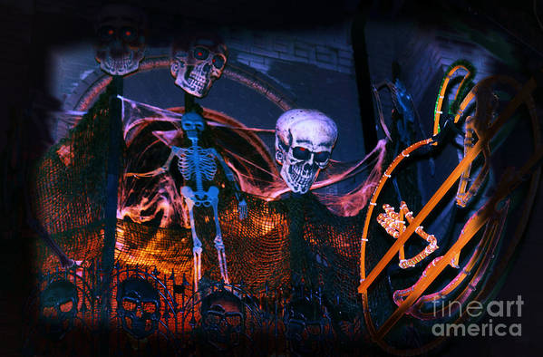 Halloween Poster featuring the photograph Halloween Ghost Party by Charline Xia