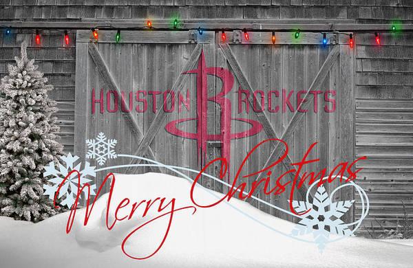 Rockets Poster featuring the photograph Houston Rockets by Joe Hamilton