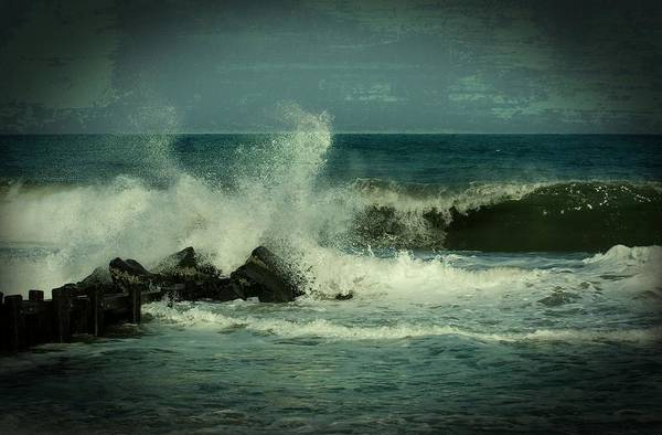 Jersey Shore Poster featuring the photograph Ocean Impact - Jersey Shore by Angie Tirado