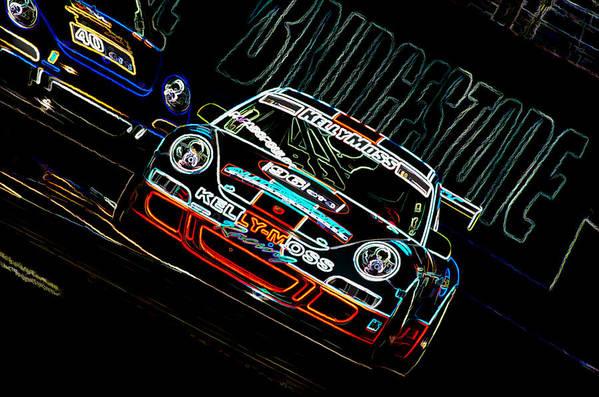 Porsche Poster featuring the photograph Porsche 911 Racing by Sebastian Musial