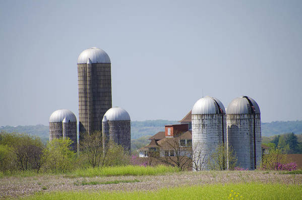 Silos Poster featuring the photograph Silos - Norristown Farm Park by Bill Cannon