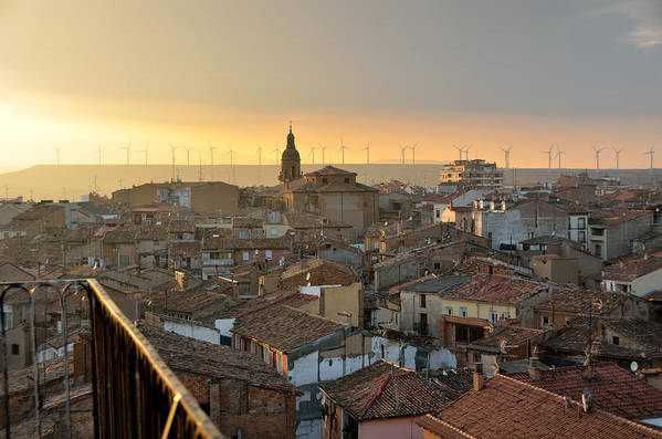 Calahorra Poster featuring the photograph Sunset In Calahorra From The Bell Tower Of Saint Andrew Church by RicardMN Photography