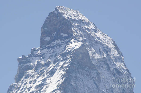 Mountains Poster featuring the photograph Top Of A Snow-capped Mountain by Mats Silvan