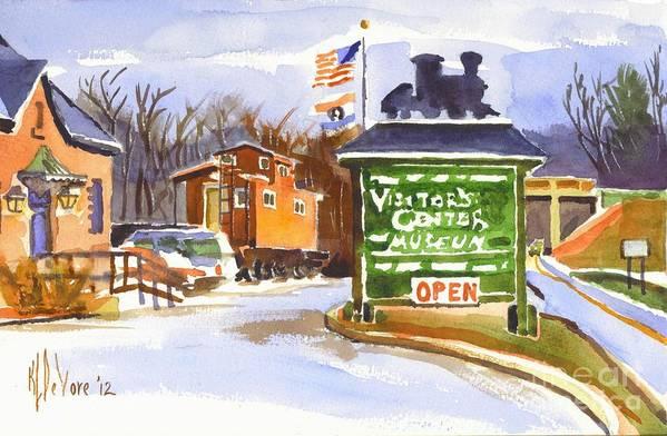 Whistle Junction In Ironton Missouri Poster featuring the painting Whistle Junction In Ironton Missouri by Kip DeVore