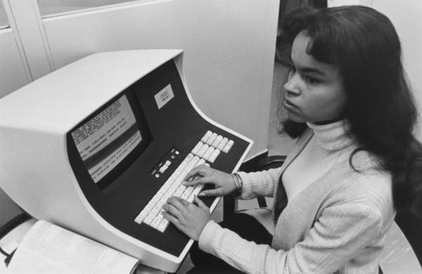 History Poster featuring the photograph African-american Woman Computer by Everett