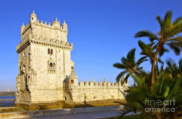 Age Poster featuring the photograph Belem Tower by Carlos Caetano