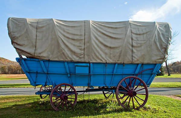 Pennsylvania Poster featuring the photograph Covered Wagon by Steve Harrington