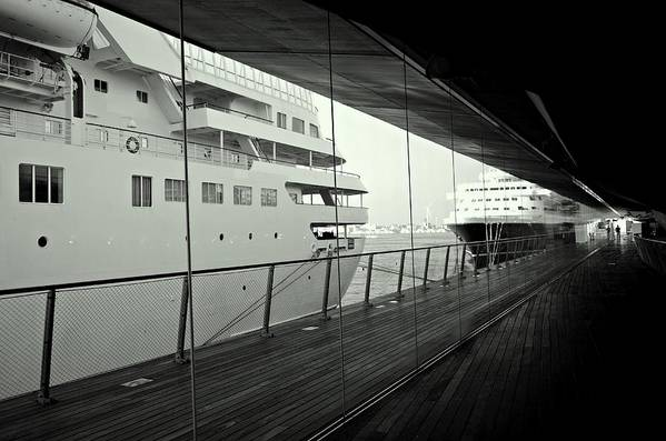 Ship Poster featuring the photograph Cruise Ships by Dean Harte