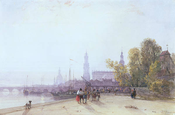 Bridge Spire Poster featuring the painting Dresden by William Wyld
