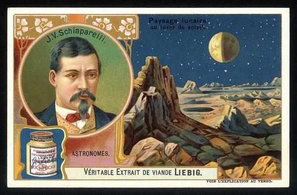 Giovanni Schiaparelli Poster featuring the photograph Giovanni Schiaparelli Lunar Advert by Detlev Van Ravenswaay