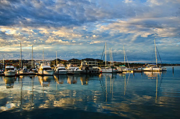 Marina Poster featuring the photograph Mindarie by Imagevixen Photography