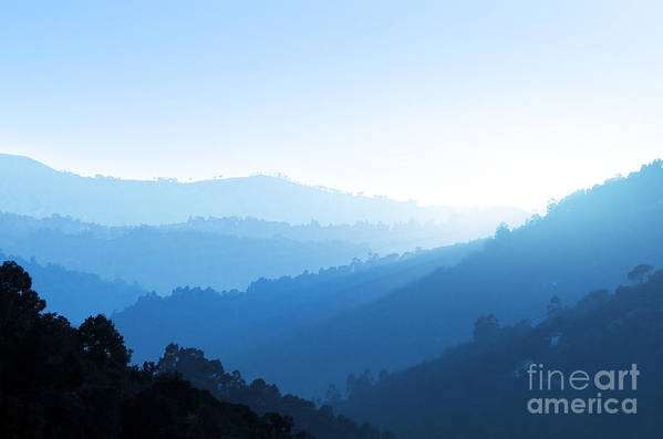 Background Poster featuring the photograph Misty Valley by Carlos Caetano