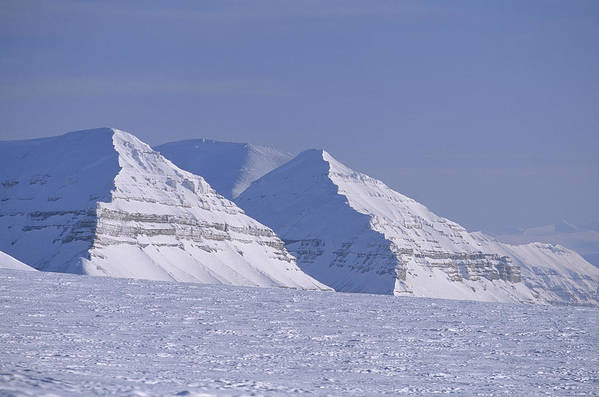 Spitsbergen Poster featuring the photograph Mountains Above Kings Glacier by Gordon Wiltsie