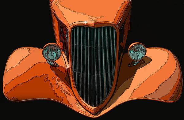 Orange Jalopy Poster featuring the photograph Orange Jalopy by Samuel Sheats