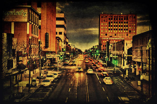 College Avenue Poster featuring the photograph Retro College Avenue by Joel Witmeyer