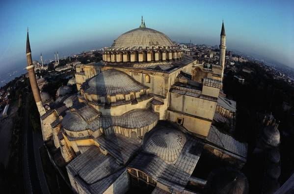 Hagia Sophia Poster featuring the photograph Side Domes And Minarets Gather by James L. Stanfield