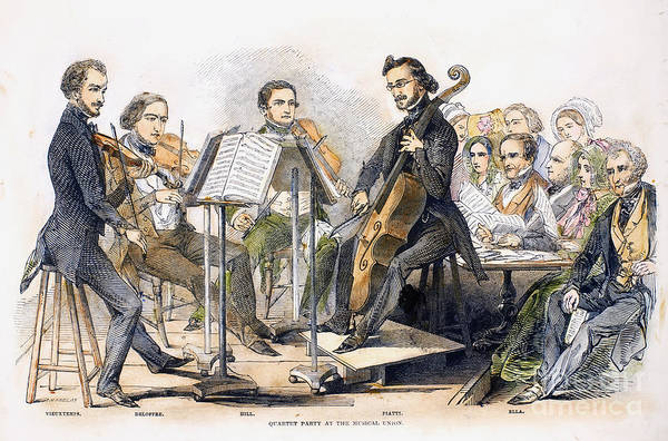 1846 Poster featuring the photograph String Quartet, 1846 by Granger