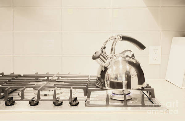 Appliance Poster featuring the photograph Tea Kettle On Stove by Andersen Ross